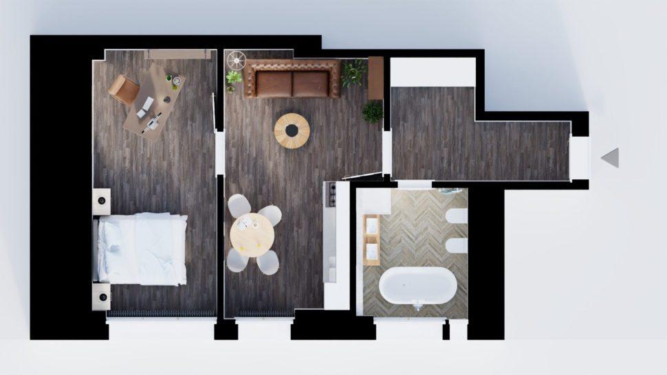 2D půdorys byt